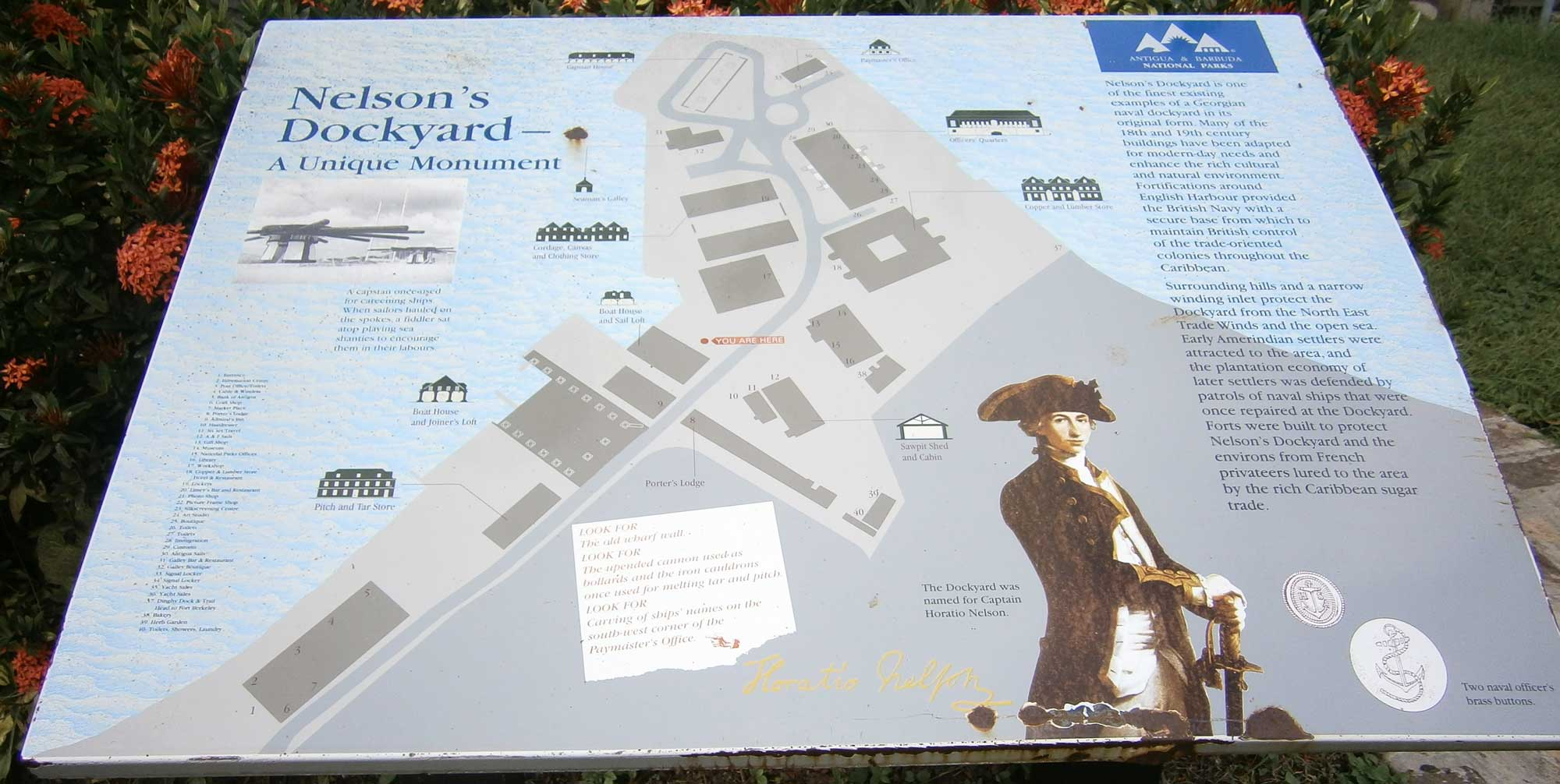 Nelsons Dockyard Map